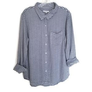 Beach Lunch Lounge Striped Button Down Shirt